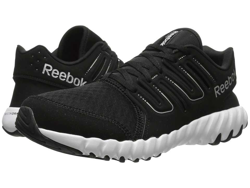 Reebok - TS Run (Black/Steel/Matte Silver) Men's Shoes