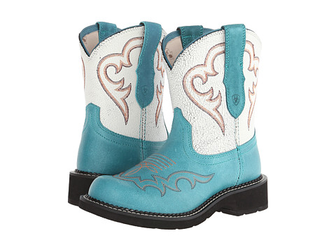 Ariat - Fatbaby Heritage Harmony (Peacock/White Crackle) Cowboy Boots