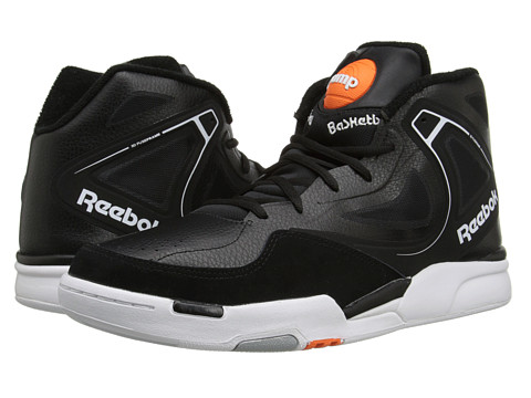 Reebok - The Pump Glide (Black/Swag Orange/White) Men
