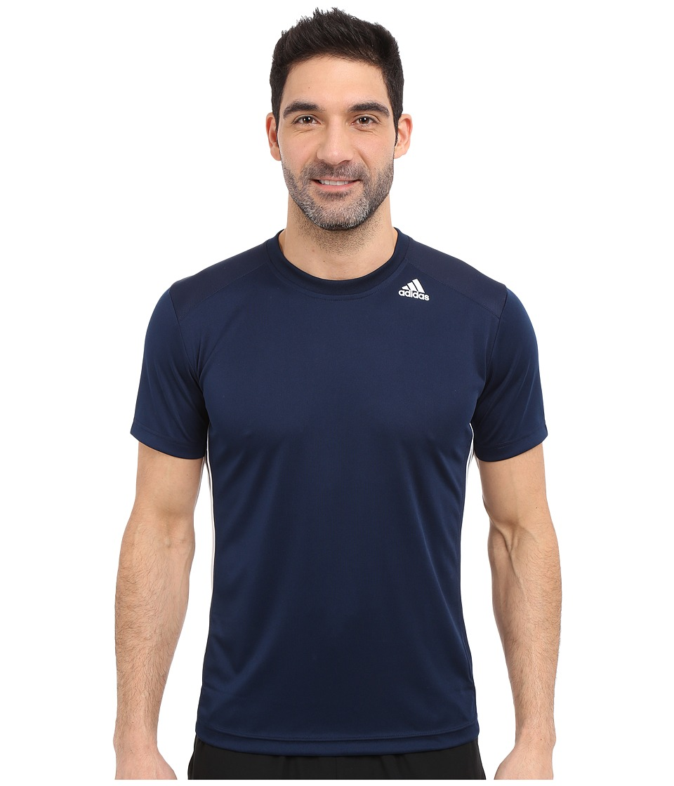 adidas - All World Short Sleeve Tee (Collegiate Navy/White) Men