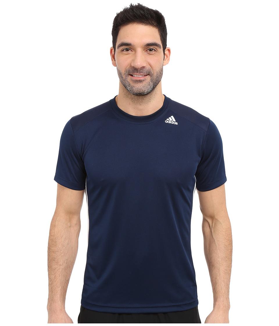 adidas - All World Short Sleeve Tee (Collegiate Navy/White) Men's T Shirt