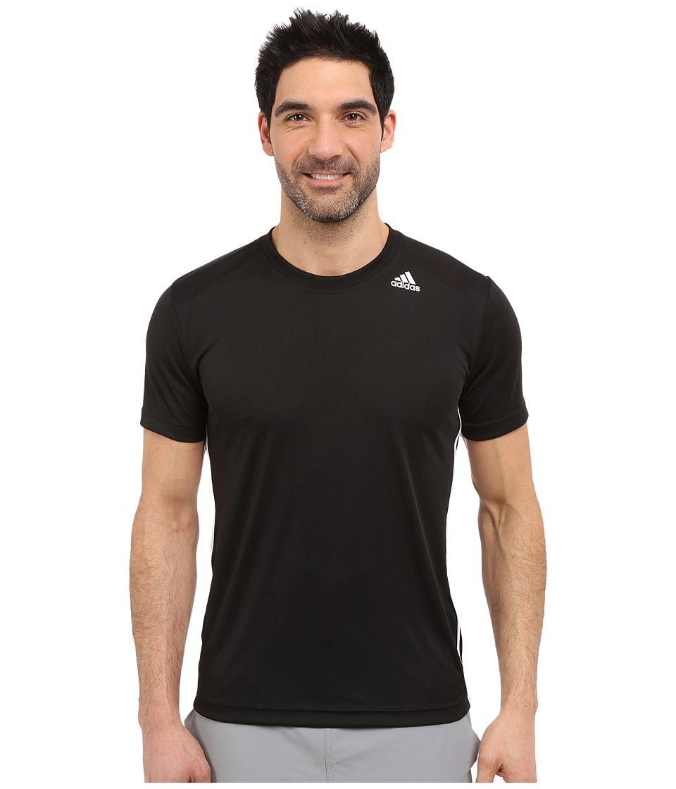 adidas - All World Short Sleeve Tee (Black/White) Men's T Shirt