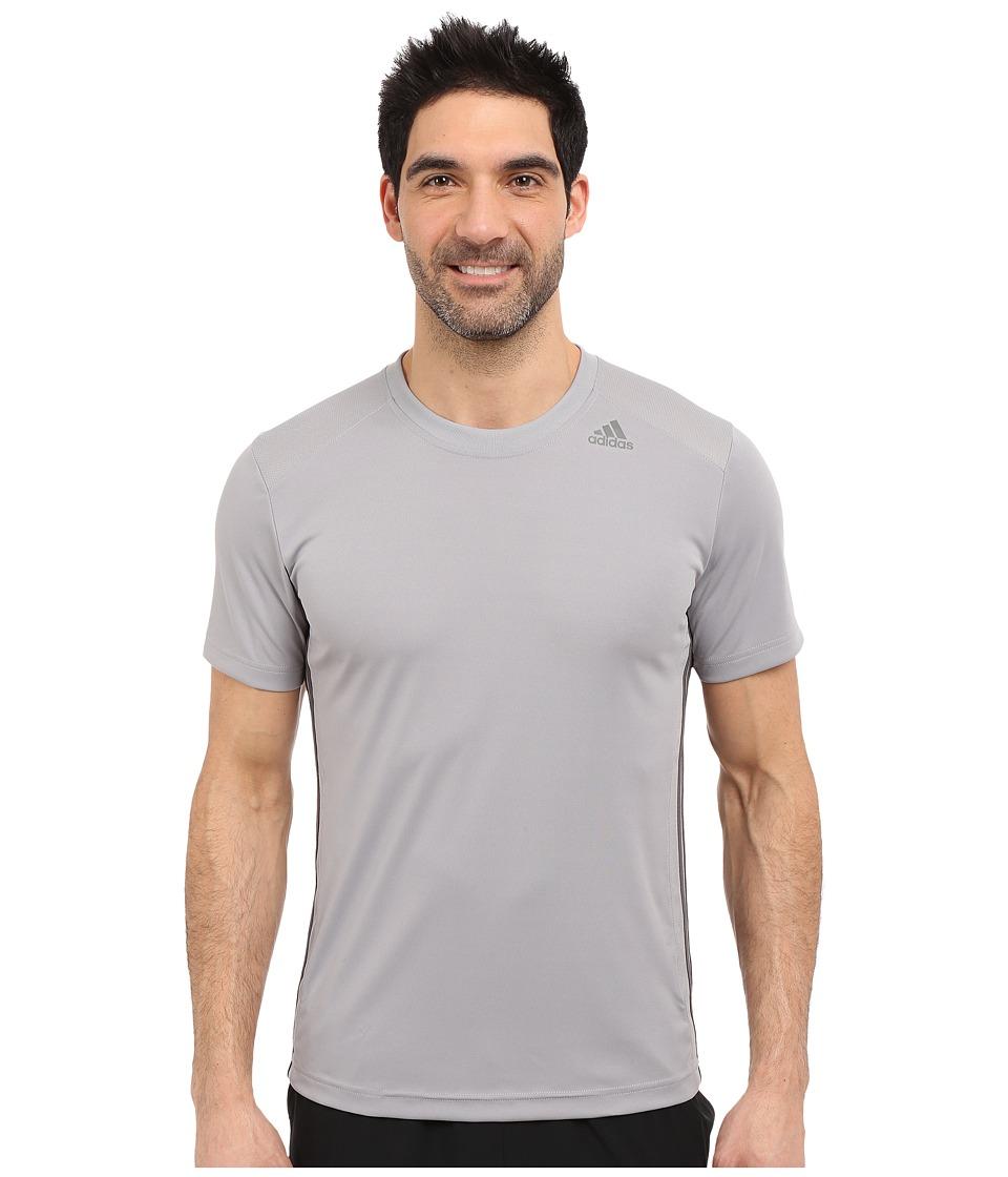 adidas - All World Short Sleeve Tee (Light Onix/Granite) Men's T Shirt