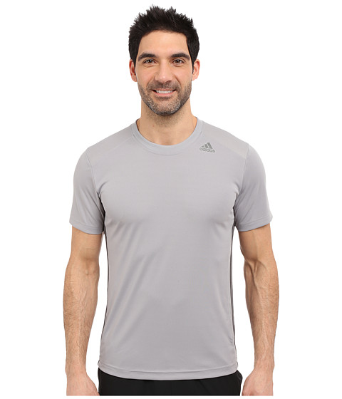 adidas - All World Short Sleeve Tee (Light Onix/Granite) Men's T Shirt