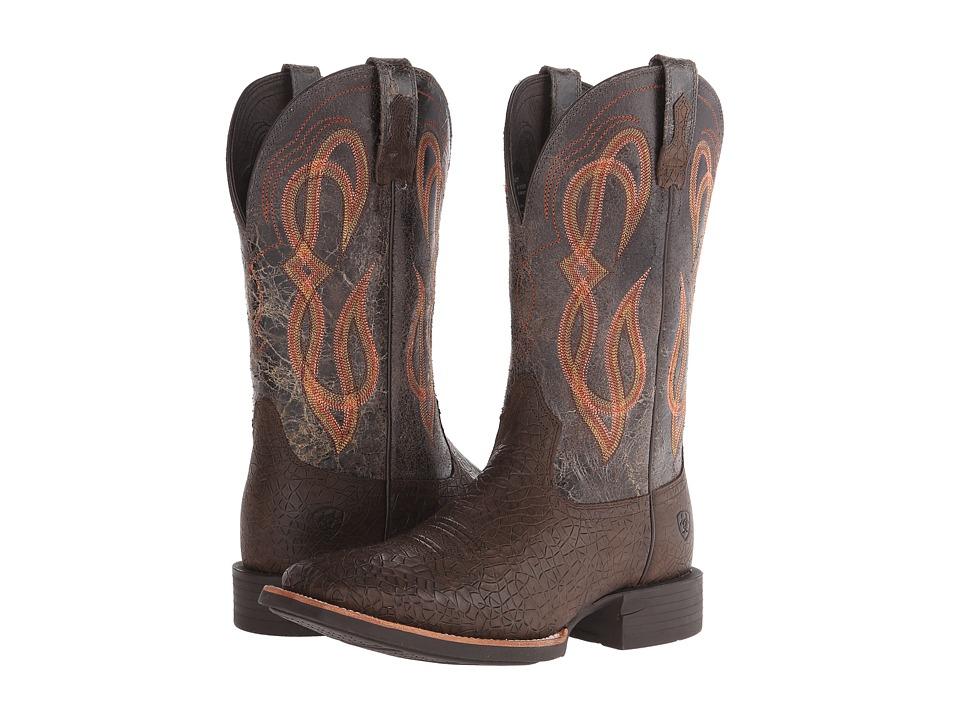 Ariat Quantum Brander (Earthquake/Broken Slate) Cowboy Boots