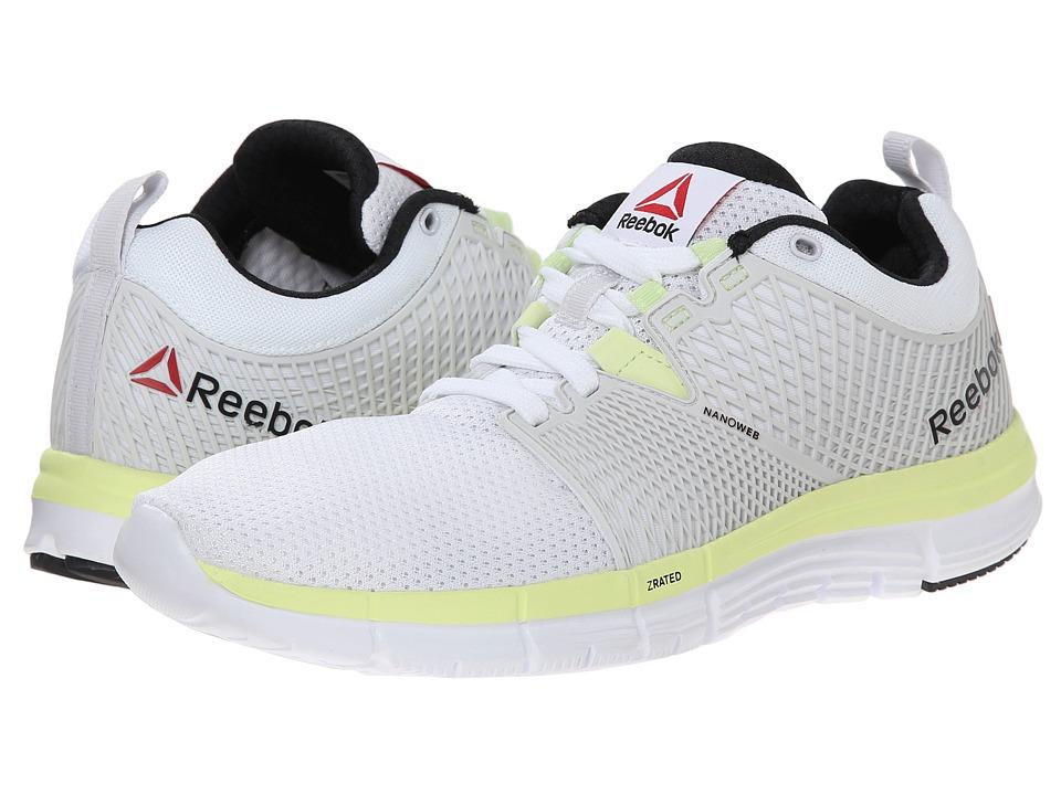 Reebok - ZQuick Dash (WhitePorcelian/Citrus Glow/Black) Women's Shoes