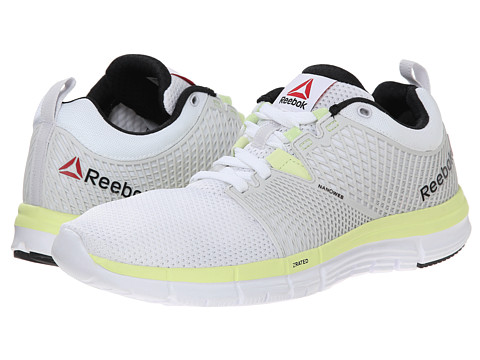 Reebok - ZQuick Dash (WhitePorcelian/Citrus Glow/Black) Women's Shoes