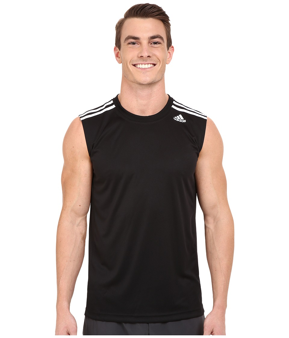 adidas - All World Sleeveless Tee (Black/White) Men