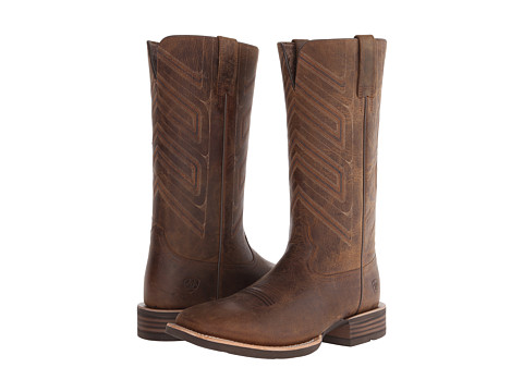 Ariat - Short Go (Distressed Brown) Cowboy Boots