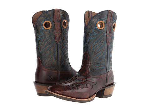 Ariat - Trail Head (Weathered Buckskin/Silver Stream) Cowboy Boots