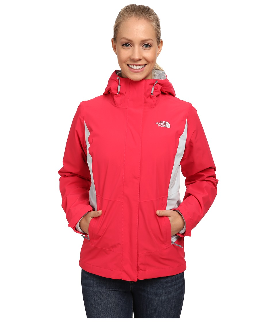 The North Face - Claremont Triclimate Jacket (Rose Red/High Rise Grey) Women's Coat
