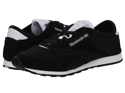 Reebok Lifestyle - Classic Nylon Slim Pigment Mesh (Black/White) Women's Shoes