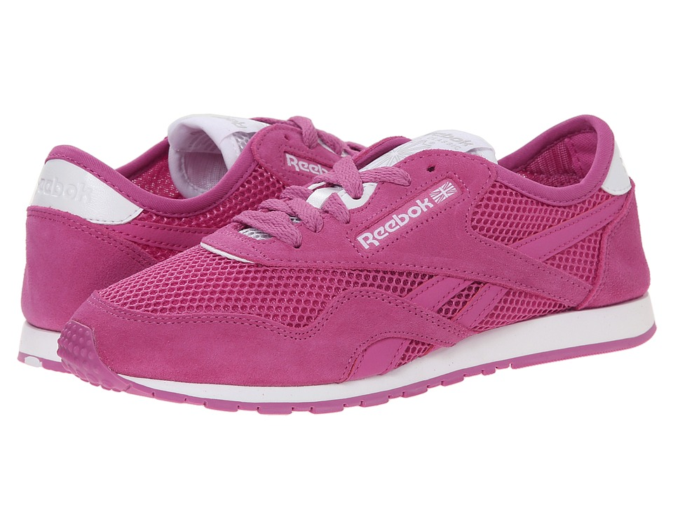Reebok Lifestyle - Classic Nylon Slim Pigment Mesh (Ultraberry/White) Women's Shoes