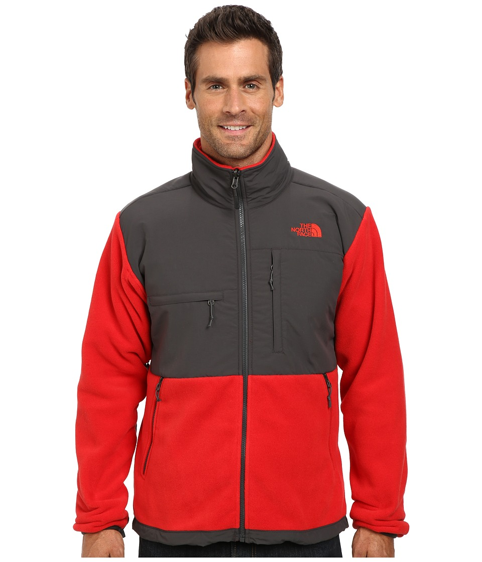 The North Face - Denali Jacket (Recycled TNF Red/Asphalt Grey) Men's Coat
