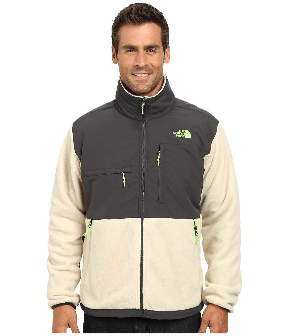 The North Face - Denali Jacket (Recycled Oatmeal Heather/Asphalt Grey) Men's Coat