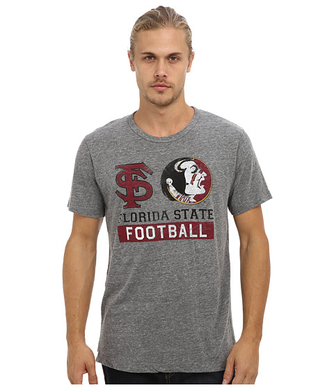 Tailgate Clothing Co. - Florida State Football Tee (Grey Heather) Men's T Shirt