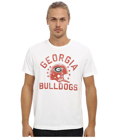 Tailgate Clothing Co. - Georgia Bulldogs Football Tee (White) Men's T Shirt
