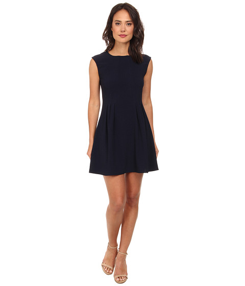 Brigitte Bailey - Lexy Crepe A-Line Dress (Navy) Women