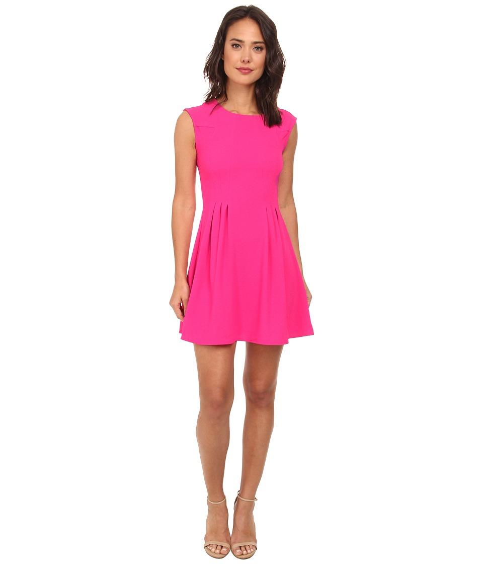 Brigitte Bailey - Lexy Crepe A-Line Dress (Hot Pink) Women's Dress