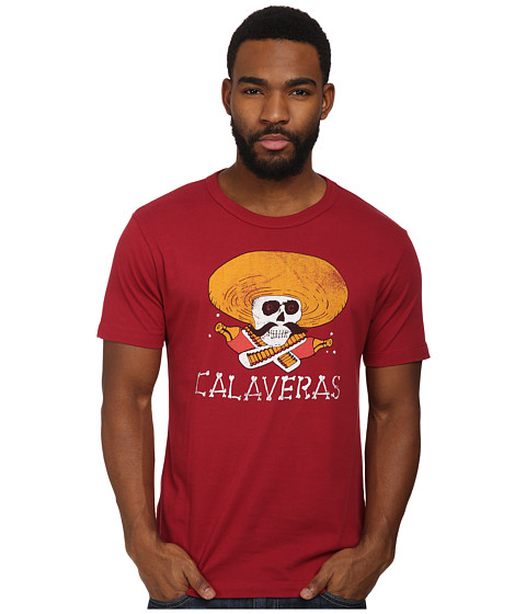 Tailgate Clothing Co. - Calaveras Tee (Cardinal) Men's Short Sleeve Pullover