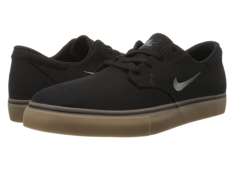 Nike SB - Clutch (Black/Dark Grey/Gum) Men's Skate Shoes