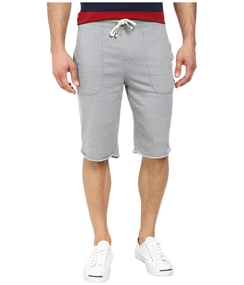 Buffalo David Bitton - Fiqin Med Sweat Slub French Terry Short (Heather Ardent Combo) Men