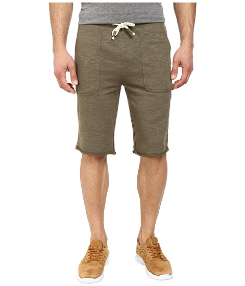 Buffalo David Bitton - Fiqin Med Sweat Slub French Terry Short (Heather Army Green Combo) Men's Shorts