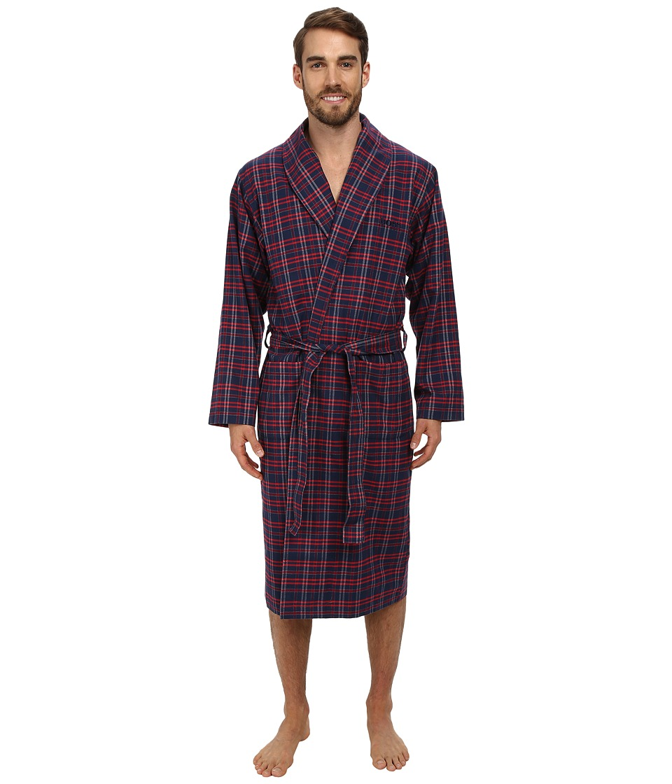 BOSS Hugo Boss - Innovation 4 Plaid Robe (Open Blue) Men's Robe