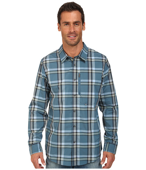 Oakley - Progression Thermogauge Woven (Chino Blue) Men's Long Sleeve Button Up