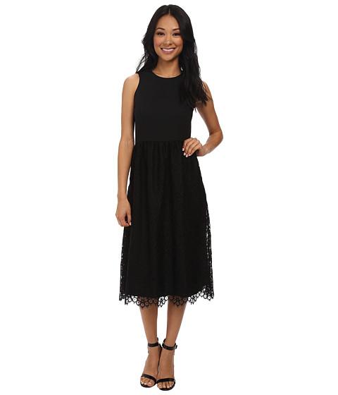Shoshanna - Harlow Midi Dress (Black) Women's Dress