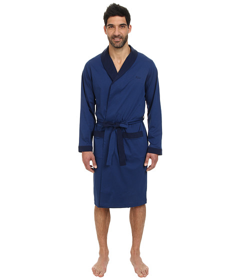 BOSS Hugo Boss - Innovation Mercerized Robe - Gift Box (Navy) Men