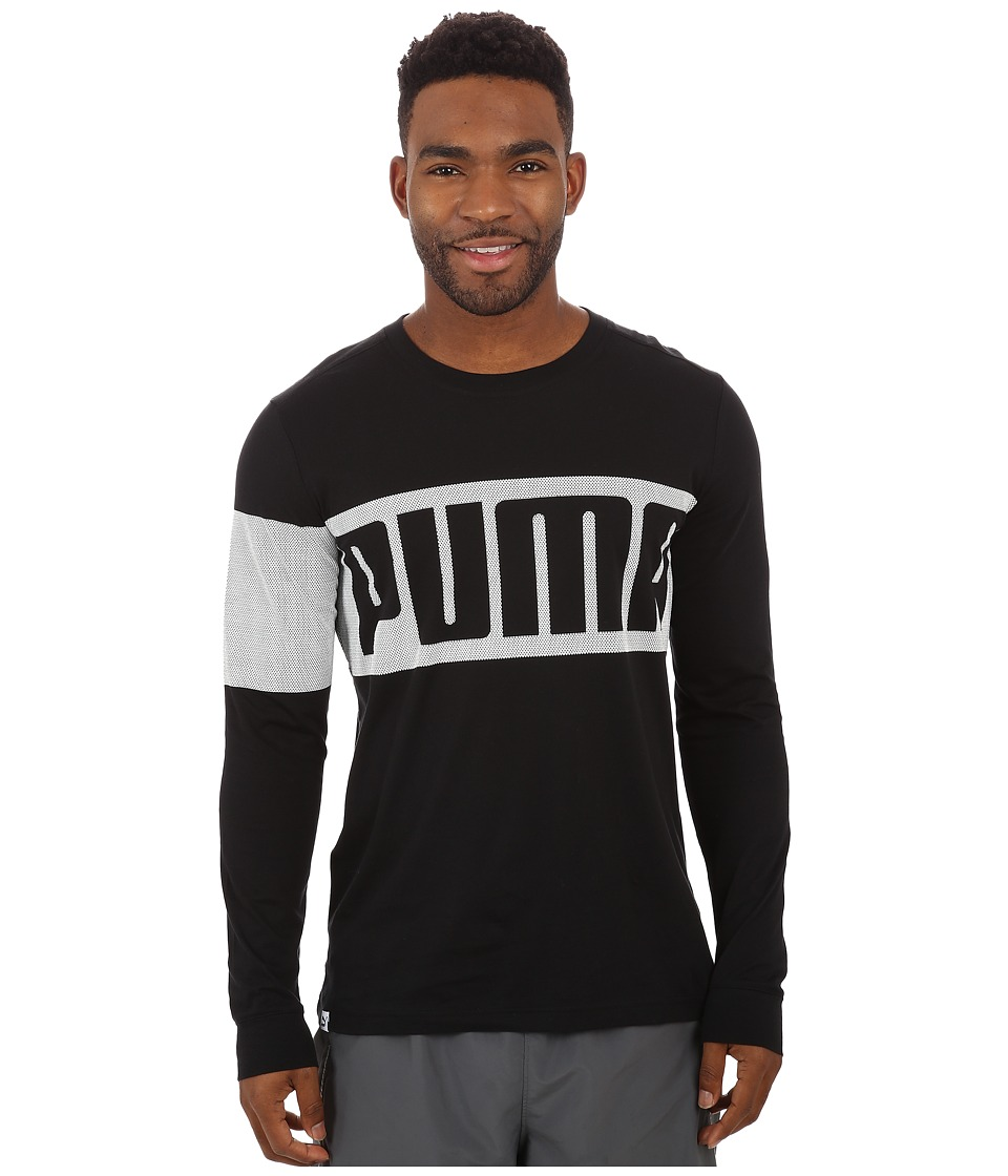 PUMA - Long Sleeve Tee (Black) Men's T Shirt