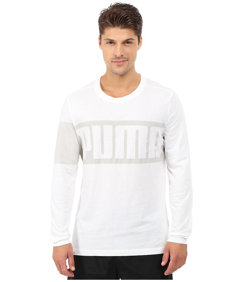 PUMA - Long Sleeve Tee (White) Men