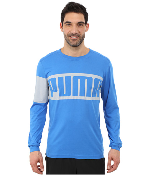 PUMA - Long Sleeve Tee (Strong Blue) Men's T Shirt