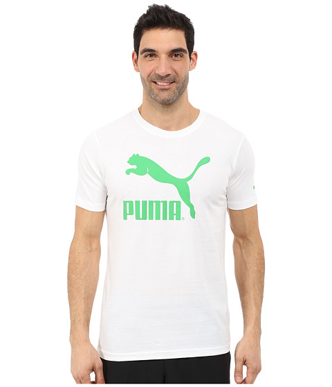 PUMA - NO.1 Logo (White/Fern Green) Men's T Shirt