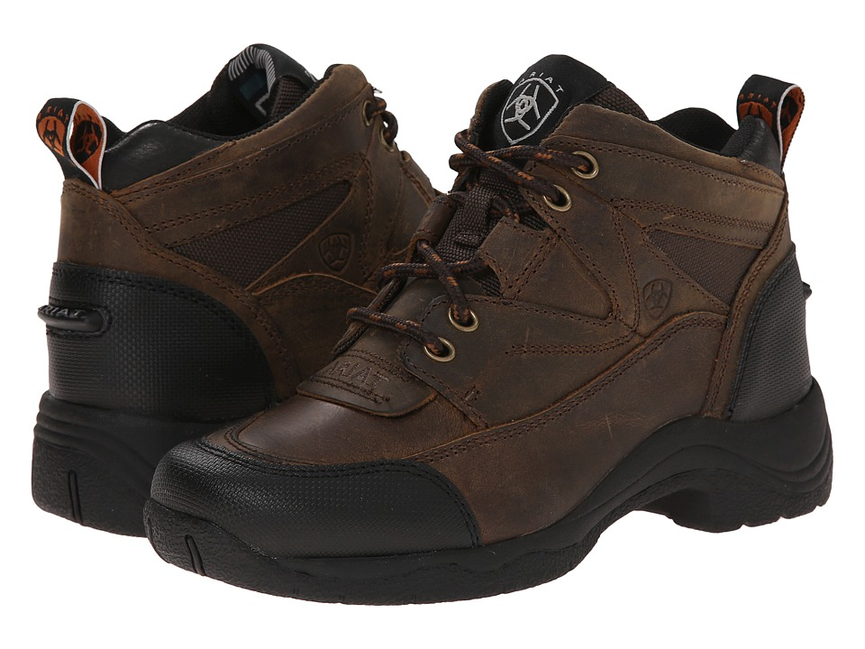 Ariat English Kids - Terrain (Little Kid/Big Kid) (Distressed Brown) Cowboy Boots