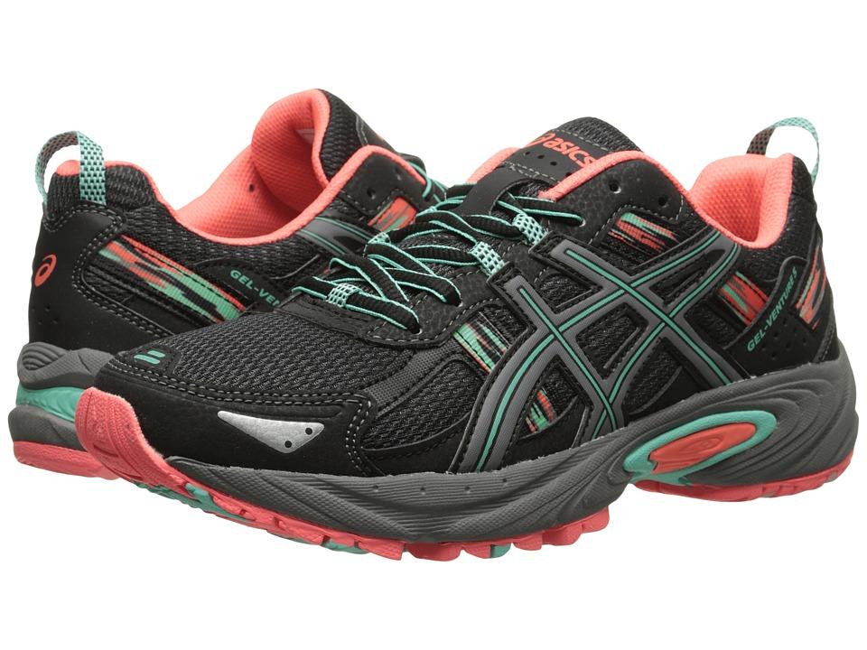 ASICS - Gel-Venture 5 (Black/Aqua Mint/Flash Coral) Women's Running Shoes