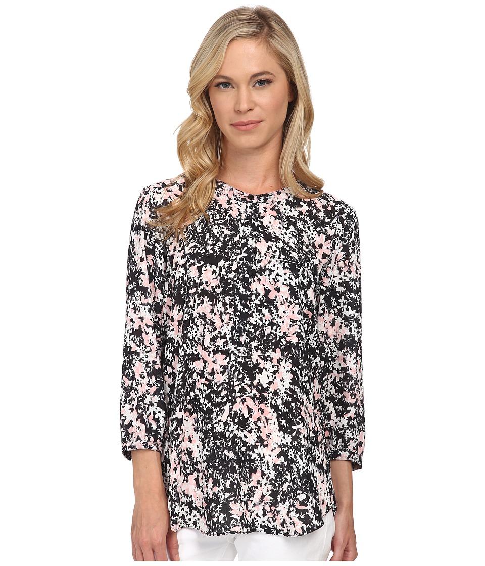 NYDJ Petite - Petite Solid 3/4 Sleeve Pleat Back (Secret Garden) Women's Long Sleeve Pullover