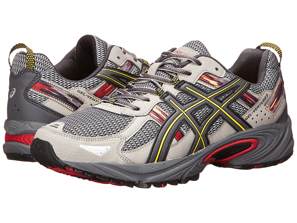 ASICS - Gel-Venture 5 (Light Grey/Graphite/Red) Men's Running Shoes