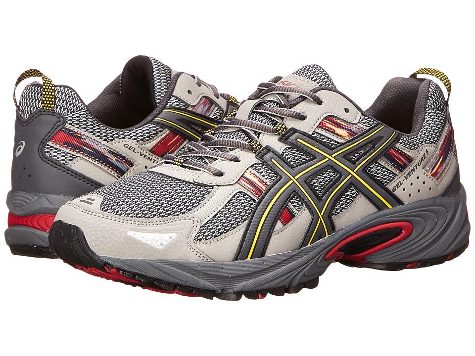 ASICS - Gel-Venture 5 (Light Grey/Graphite/Red) Men's Running Shoes