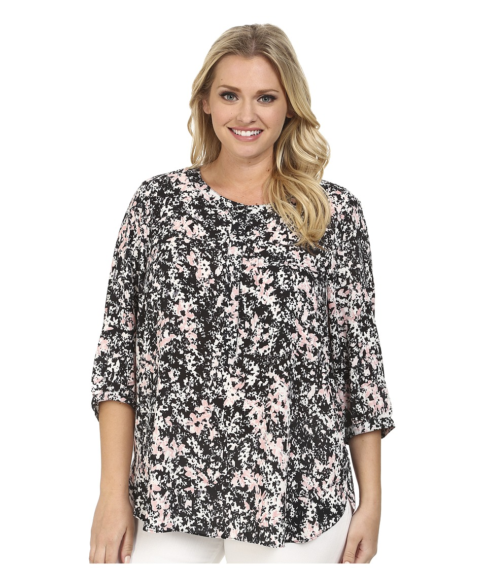 NYDJ Plus Size - Plus Size Solid 3/4 Sleeve Pleat Back (Secret Garden) Women