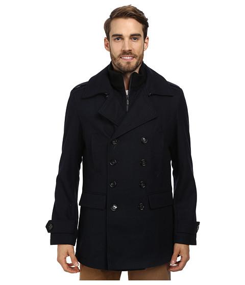 7 Diamonds - Glasgow Peacoat (Navy) Men's Coat