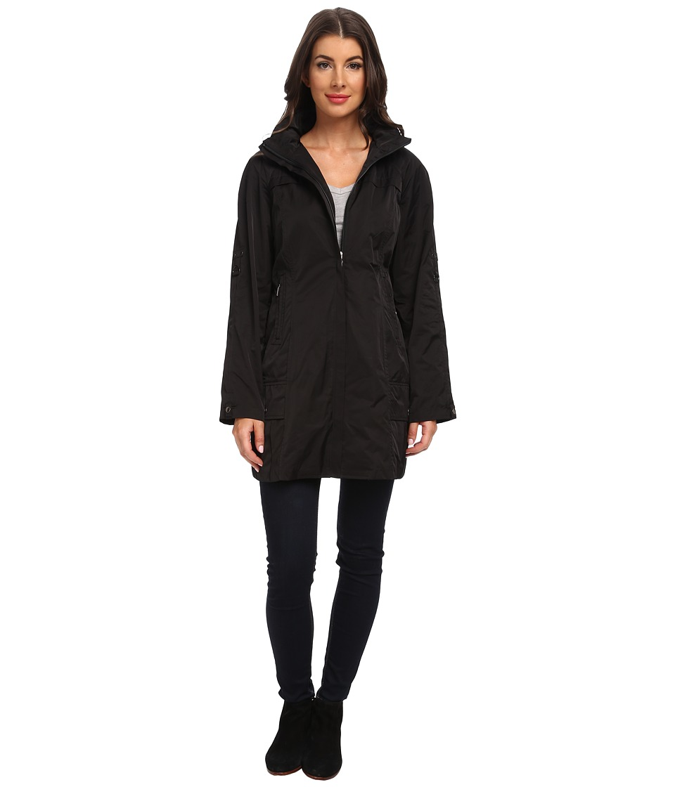 Rainforest - Packable Coat w/ Roll Sleeve (Black) Women's Coat
