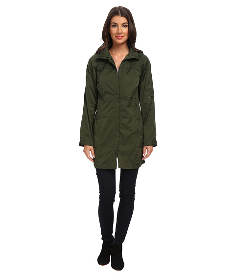 Rainforest - Packable Coat w/ Roll Sleeve (Olive) Women's Coat