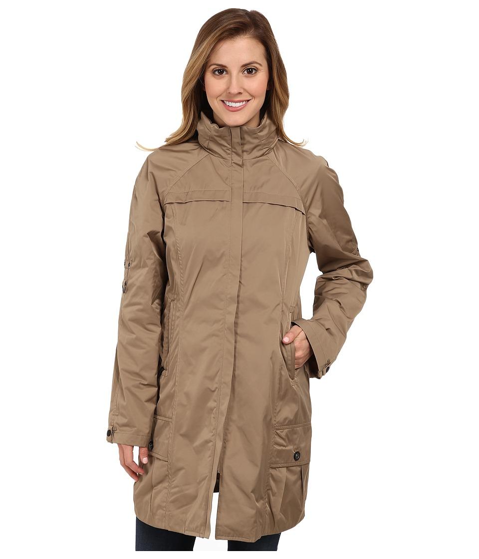 Rainforest - Packable Coat w/ Roll Sleeve (Tan) Women's Coat