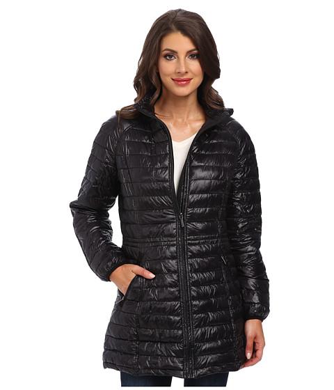 Rainforest - ThermoLuxe Quilt Topper (Black) Women's Coat