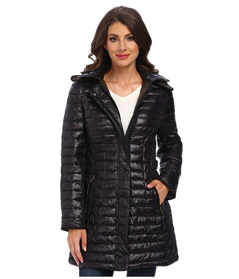 Rainforest - ThermoLuxe Coat w/ Hood (Black) Women
