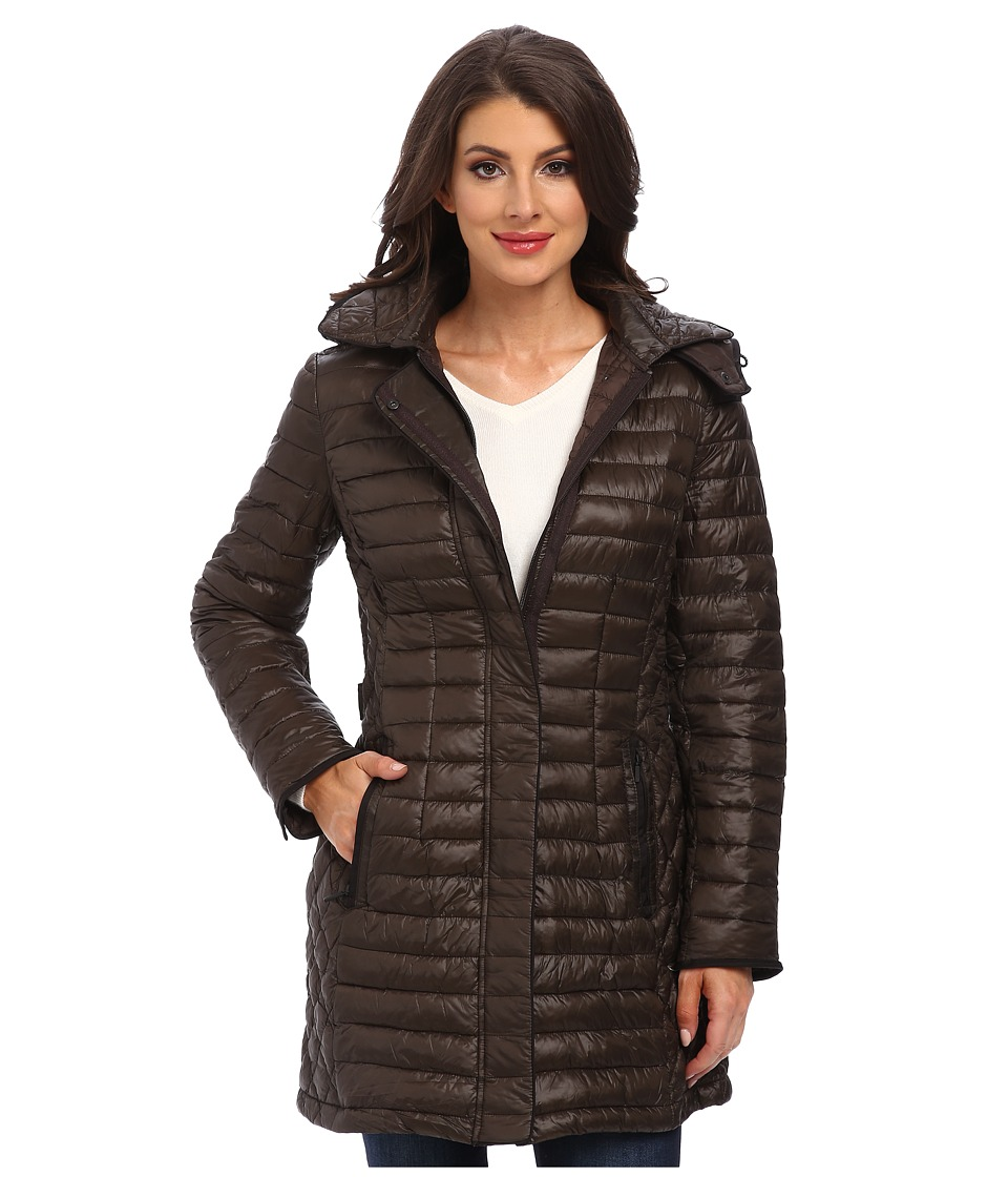 Rainforest - ThermoLuxe Coat w/ Hood (Caviar) Women's Coat