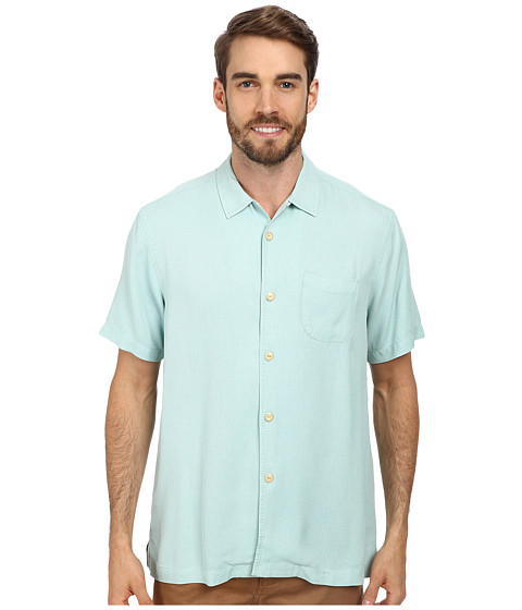 Tommy Bahama - Island Modern Fit Hamilton S/S Camp Shirt (Sky Tint) Men