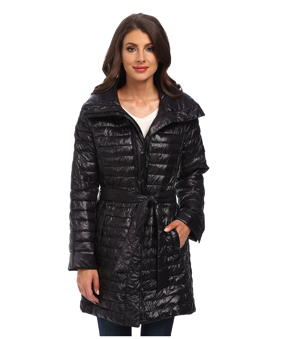 Rainforest - ThermoLuxe S/B Belted Coat (Black) Women's Coat